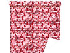 Logistipack - Papier cadeau - 70 cm x 40 m - rouge joyeuses fêtes