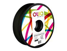 OWA - filament 3D PLA-S - noir - Ø 1,75 mm - 750g