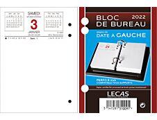 Lecas - Bloc de bureau - date à gauche - 8,5 x 11,5 cm