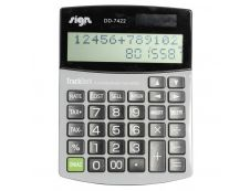 Calculatrice de poche Sign  - 12 chiffres -  alimentation batterie et solaire