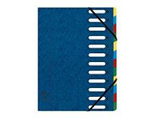 Exacompta Harmonika - Trieur à fenêtres 12 positions - bleu