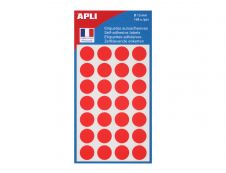 Agipa - 168 Pastilles adhésives - rouge - diamètre 15 mm