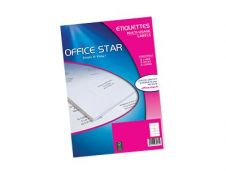 Office Star - 100 Étiquettes multi-usages blanches - 210 x 297 mm - réf OS43478