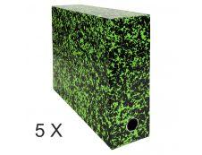 Exacompta Annonay - 5 Boîtes de transfert - dos 90 mm - toile vert