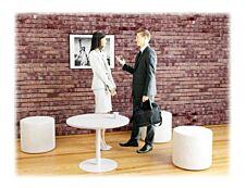 Table ronde EASYDESK - diamètre 80 x H80 cm - plateau blanc