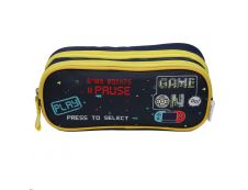 Trousse rectangulaire Phileas Game on - 2 compartiments - bleu marine - Bagtrotter