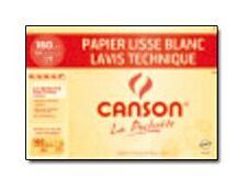 Canson Lavis Technique - Pochette papier à dessin - 12 feuilles - 24 x 32 cm - 160 gr - blanc