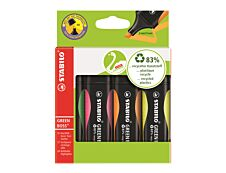 STABILO GREEN BOSS - Pack de 4 surligneurs - couleurs assorties