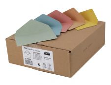 GPV - 1000 Enveloppes élection recyclées - 90 x 140 mm - 80 gr - couleurs assorties
