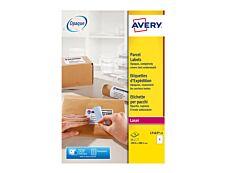 Avery - 15 Étiquettes d'expédition blanches - 199,6 x 289,1 mm - Impression laser - réf L7167-15