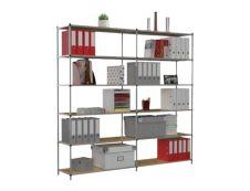 Paperflow Tubeco - Rack à étagère - rayonnage de bureau 6 niveaux - élément de départ - 200 x 100 x 34 cm