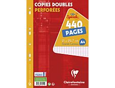 Clairefontaine 440 copies doubles grands carreaux A4 perforées