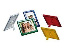 Promocome Ecoframe - Cadre porte-affiche clippant à poser ou à fixer au mur - A5 - rouge