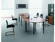 Table de réunion Rectangulaire - 120 x 60 cm - Pieds anthracite - imitation hêtre