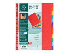 Exacompta Nature Future - Intercalaire 12 positions - A4 Maxi - carte lustrée colorée