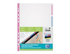 Oxford - 20 Pochettes perforées Colour Touch - A4 - polypropylène 5/100e - 4 couleurs assorties