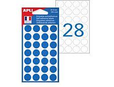 Apli Agipa - 168 Pastilles adhésives - bleu - diamètre 15 mm - réf 111842