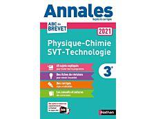 Annales Brevet 2021 - Physique Chimie - SVT - Techno - Corrigé