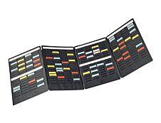 Nobo Mini - Planning portatif à fiches T - 4 volets - 24 x 31 cm