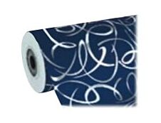 Clairefontaine Premium - Papier cadeau - 70 cm x 50 m - 80 g/m² - arabesques argent fond bleu