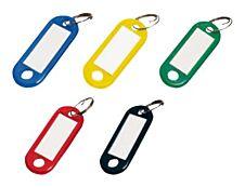 Sign - 20 Porte-clés - 56 x 22 mm - plastique - couleurs assorties