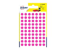 Avery - 490 Pastilles adhésives - rose - diamètre 8 mm