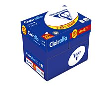 Clairefontaine CLAIRALFA - Carton de 5 ramettes de 550 feuilles - 80g/m² - papier ordinaire