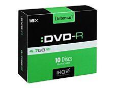 Intenso - 10 DVD-R avec boîtiers slim - 4.7 Go