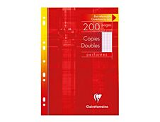 Clairefontaine - 200 copies doubles A4 - grands carreaux - perforées
