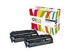 Owa K35590OW cartouche équivalente HP 80X - pack de 2 - noir