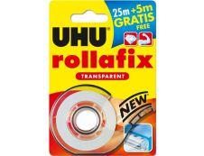 UHU Rollafix - Ruban adhésif avec dévidoir - transparent - 19 mm x 30 m