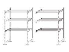 Paperflow Rang'Eco - Rack à étagère - élément suivant - 100 x 200 x 68 cm