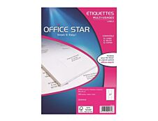 Office Star - 2700 Étiquettes multi-usages blanches - 71 x 31 mm - réf OS43442