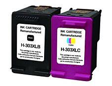 HP 303XL - remanufacturé UPrint H-303XLBK/CL - pack de 2 - noir, cyan, magenta, jaune - cartouche d'encre