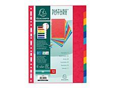 Exacompta Nature Future - Intercalaire 12 positions - A4 - carte lustrée colorée