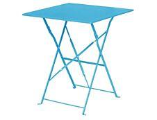 Table pliante de terrasse - L60 x H71 x P60 cm - Turquoise