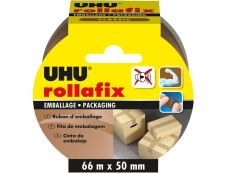 UHU - Ruban adhésif d'emballage - 50 mm x 66 m - brun