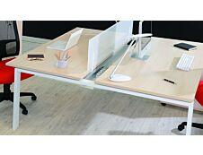 Goulotte réceptacle de bureau pour cables et prises électriques pour plan L120