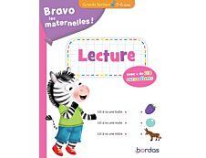 Bravo les maternelles - Lecture Grande Section - avec + de 100 autocollants - 5-6 ans