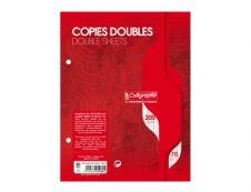 Calligraphe - 200 copies doubles 17x22 cm - grands carreaux (Seyes) - perforées