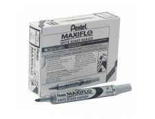 Pentel MAXIFLO - Pack de 12 marqueurs effaçables - pointe ogive - noir
