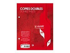 Calligraphe - 200 copies doubles grands carreaux 17x22 cm perforées
