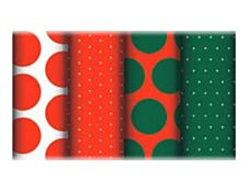 Clairefontaine Excellia - Papier cadeau - 70 cm x 5 m - 80 g/m² - pois rouge et vert - différents modèles