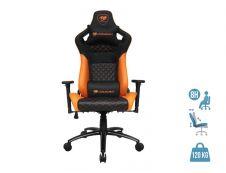 Fauteuil gamer EXPLORE S - accoudoirs réglables - appuie-tête intégré - noir, orange