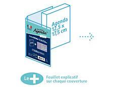 Protège-agenda XL - 12,5 x 17,5 cm - Exacompta