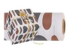 Logistipack - Papier cadeau mat - 70 cm x 40 m - 70 g/m² - gris/marron
