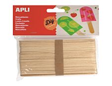 Apli - 40 bâtons de bois - naturel