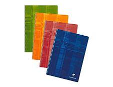 Clairefontaine - Cahier à spirale A4 (21x29,7 cm) - 100 pages - grands carreaux (Seyes) - disponible dans différentes couleurs