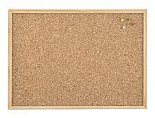 JPC - Tableau d'affichage en liège naturel - 60 x 90 cm - cadre en bois