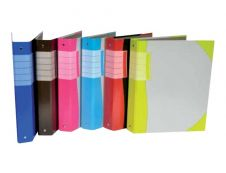 Viquel - Classeur à anneaux - Dos 40 mm - A4 Coins couleurs - pour 225 feuilles - disponible dans différentes couleurs
